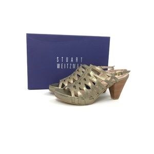 STUART WEITZMAN ROLLOVER ALE WASHED NAPPA Sz 6.5M